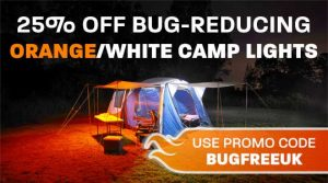 Bug Free Orange White LED Camp Lighting
