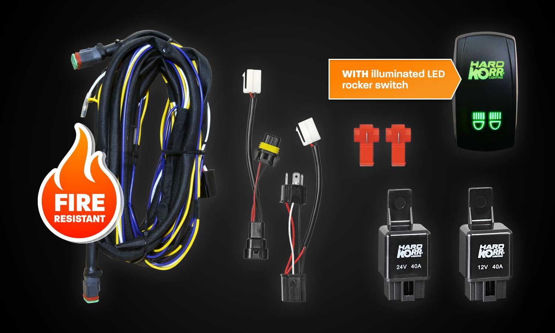 Dual Wiring Harness With Backlit Rocker Switch Hard Korr Nz Led Legend Offroad Lights For 4x4 Driving
