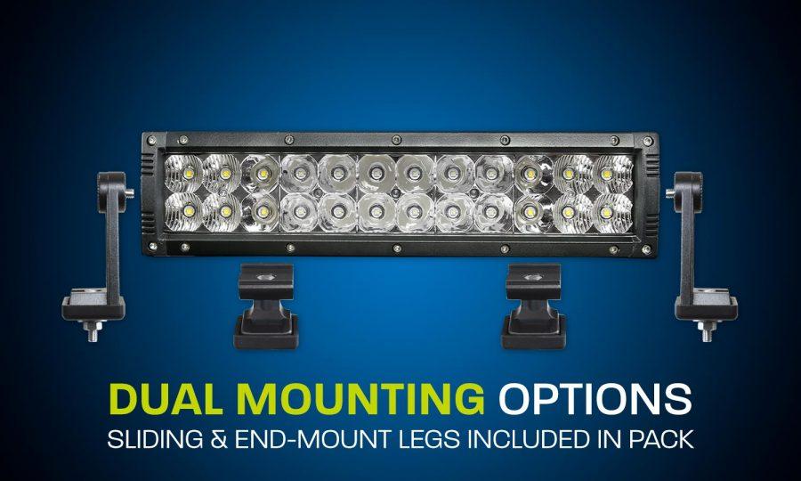 Dual row LED light bar 12 inches combo beam