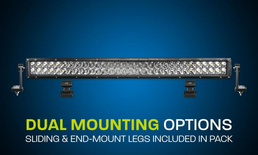 LED light bar dual row 27 inches combo beam